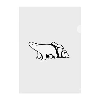 シロクマと氷山 Clear File Folder