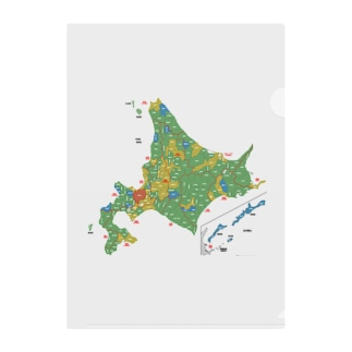 北海道179市町村地図 Clear File Folder
