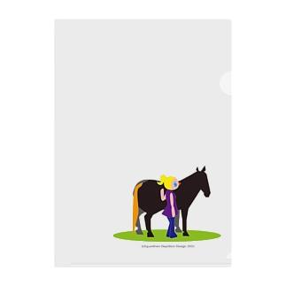 うまのりめいじん①(馬シリーズ) Clear File Folder