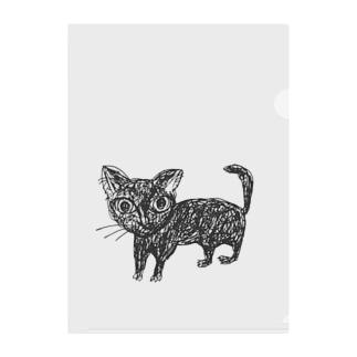深淵を覗く猫 Clear File Folder