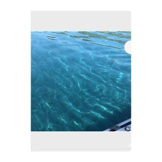 綺麗な水色 Clear File Folder