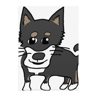 父画伯の柴犬 Clear File Folder