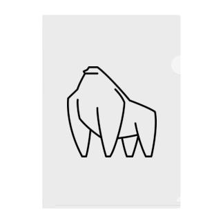 シンプルな線画のゴリラ Clear File Folder
