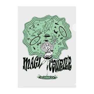 """MAGI COURIER"" green #1 Clear File Folder"