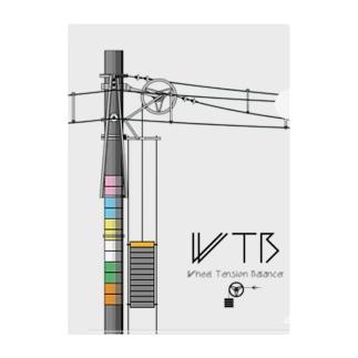 WTBと電柱(高崎エリア) Clear File Folder