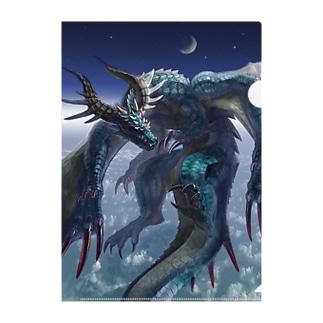 大気圏に住まう:ドラゴン Clear File Folder
