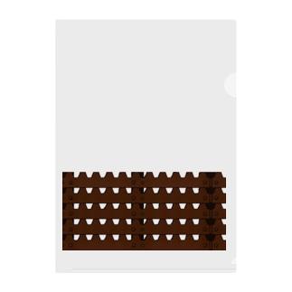 ラックレール・グレーチング(透過) Clear File Folder
