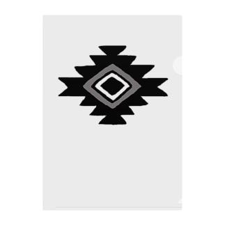 おるてが(黒) Clear File Folder