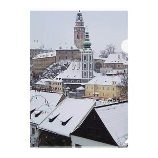 チェコ:チェスキー・クルムロフ城 Czech: Krumlov Castle Clear File Folder