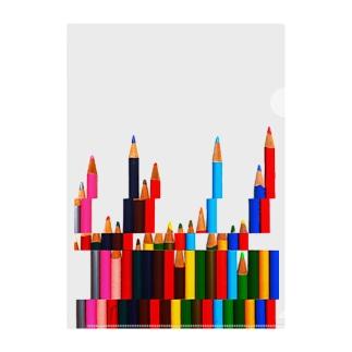 色鉛筆の街(乱立ver.) Clear File Folder