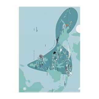 うみのいきもののコーラルトライアングル ダイビングマップ Clear File Folder