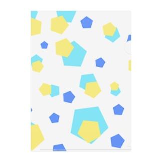 五角形 Clear File Folder