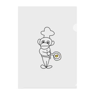 かわいいコックさん絵描き歌シリーズ【目玉焼き】 Clear File Folder