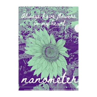nanometer『いつも心に花を』クリアファイル Clear File Folder