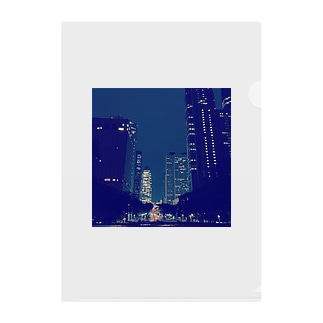 Shinjyuku-blue (park ver.) Clear File Folder
