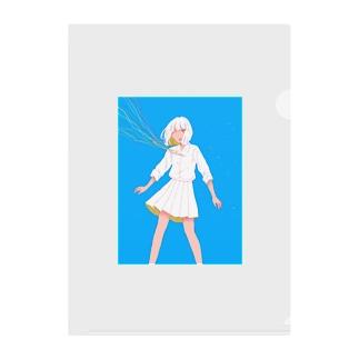 6月の女の子 Clear File Folder