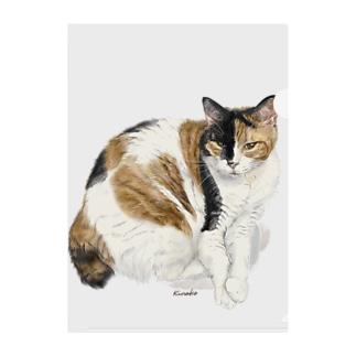 kinako-japanの三毛猫もなか Clear File Folder