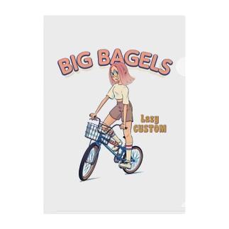 """big bagels"" Clear File Folder"
