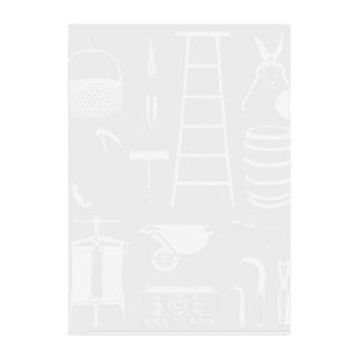仁木町協力隊(ホワイト) Clear File Folder