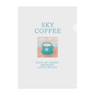 SKY COFFEE Clear File Folder