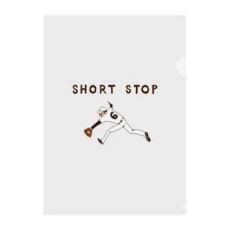 野球デザイン「ショート」 Clear File Folder