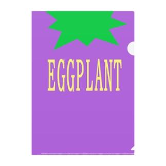 EGGPLANT Clear File Folder