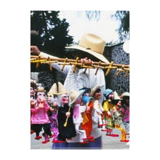 メキシコ:操り人形売りの情景写真 Mexico: Marionettes / puppets Clear File Folder