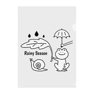 Rainy Season Clear File Folder