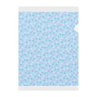 花(ブルー) Clear File Folder