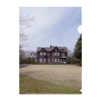東京都:旧古河庭園の春景色 Tokyo: view of Kyū-Furukawa Gardens  Clear File Folder