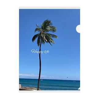 空と椰子の木🌴 Clear File Folder