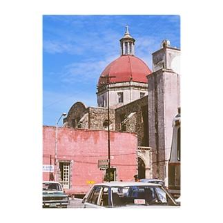メキシコ:聖母被昇天大聖堂の風景写真 Mexico: view of Catedral de la Asunción de María / : Catedral de Cuernavaca Clear File Folder