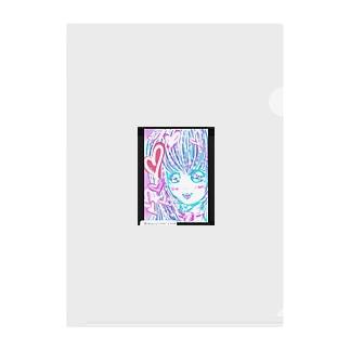 かわゆす♥️ハート女子ちゃん Clear File Folder