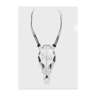 すらりとした角の鹿 Clear File Folder