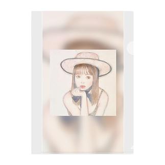 夏の少女 Clear File Folder