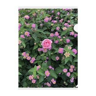 ピンクのお花 Clear File Folder
