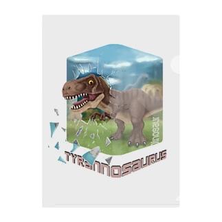 すとろべりーガムFactoryのティラノサウルス Clear File Folder
