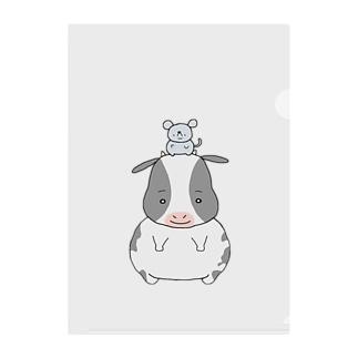 ネズミとウシ Clear File Folder