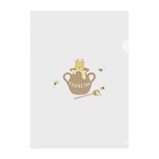 つねたんとミツバチ Clear File Folder