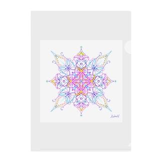 A Cross Flower of Love Clear File Folder