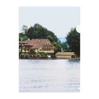 スイス:ルツェルン湖の別荘 Switzerland: House with a boat hut Clear File Folder
