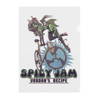 """""""SPICY JAM"""" (green) Clear File Folder"""