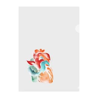 ココハレ心臓と鯉 Clear File Folder