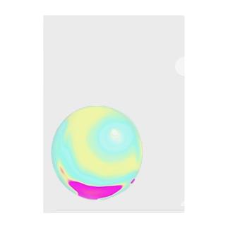 ホログラム球体 Clear File Folder