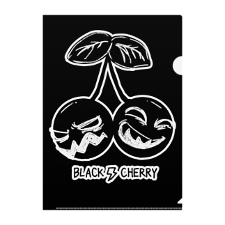 Black Cherry Clear File Folder
