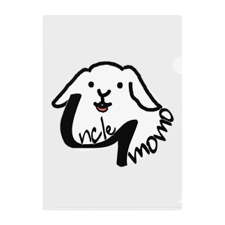 【uncle momo】ロゴ Clear File Folder