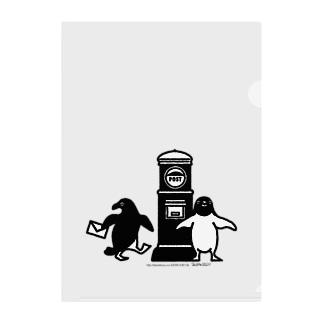 かめつるのアデリーペンギンお手紙だす Clear File Folder
