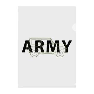 U.S.ARMYなジムニー Clear File Folder