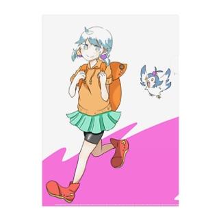 カエデちゃんアイテム〜お散歩〜 Clear File Folder