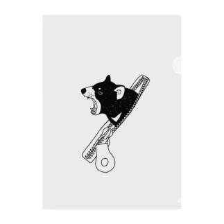 ファスナーからタスマニアデビル Clear File Folder